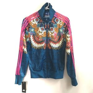 NWT✨Rare Adidas✨ zip up jacket with logo